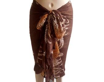 Scarf for women, cotton Beach sarong, Bikini cover up, sarong wrap skirt, sarong dress, swimsuit dress, beach wear, cotton sarong