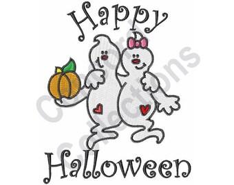 Ghost Couple - Machine Embroidery Design - 5 X 7 Hoop, Halloween