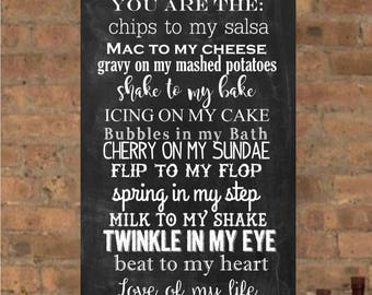 I Love You Gift, House Rules, Personalized Engagement Gift, Anniversary Present, List of Rules, Typography Canvas, Subway Art