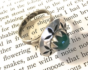 Vintage Silver Ring, Vintage Hand Crafted Silver Ring from Mexico, Adjustable Ring, Free Shipping USA