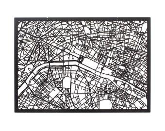 3d city map PARIS, 59x42cm (73x53cm)