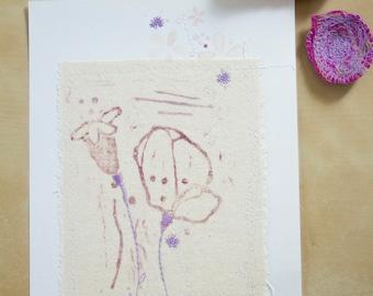 Illustration cousue - Coquelicots douceur de fleurs