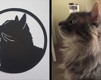 Custom Pet Portrait | Papercut Silhouette
