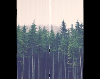 """Sheer Curtains - PNW Forest, Woodlands, Treescape, Wilderness, Home Decor, 60x60 or 60x84"""", nature photography by RDelean Designs"""