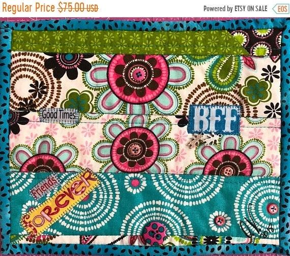 Hello Summer Sale Friendship #1 8x10 inch mini quilt