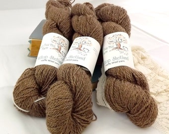Hilltop Shetland Wool-Medium Sport-Hickory