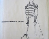 Past Patterns 102 Victorian Simple Summer Gown Costume Sewing Pattern Size 10 to 16 Bust 32 to 38