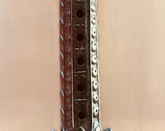 Balinese wooden carving Art vintage flute