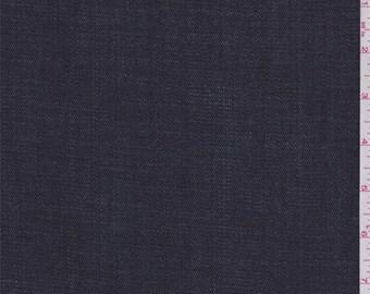 Navy Blue Denim, Fabric By The Yard