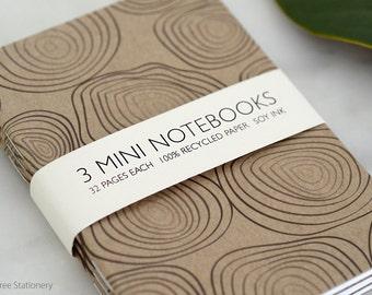 Mini Notebooks - Set of 3 - Rings Design