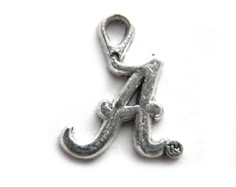 HALF PRICE Intial Alphabet Letter A  - 10 Charms