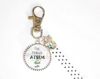Keychain * physical gift * Ribbon * voted best worldwide pre-school * painting