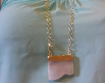 Snow white quartz necklace