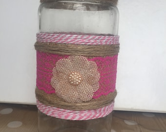 Shabby chic customise vase