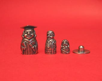 Teacher Russian Doll Thimble Pewter Collectors Thimble