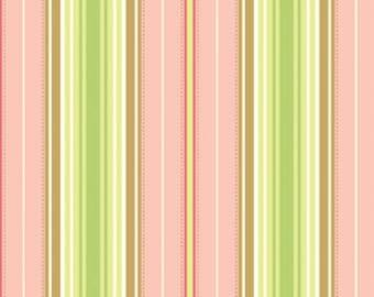Freshcut Lounge Stripe in Peachy by Heather Bailey for Free Spirit - 1 Yard