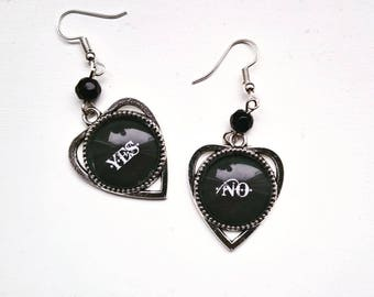 Gothic earrings, gothic jewellery, ouija earrings, ouija jewellery, occult jewellery, planchette earrings, ouija board, gothic gift,