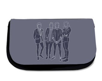 Blue Direction Makeup Bag Pencil Case Wash Bag One Direction Harry Styles Louis Tomlinson Liam Payne Niall Horan Cosmetics Travel