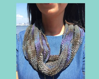Cowl knitting pattern - beginner level - knitting pattern - Instant download