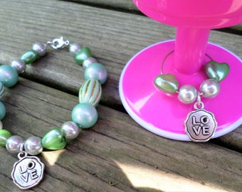 Wine Glass Charm, Bracelet Set, Wine Charm Set, Wine Glass Marker, Beaded Bracelet, Glass Bead Bracelet, Party Gifts, Bridesmaid Gift,