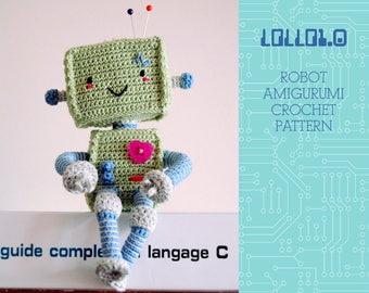 CROCHET PATTERN - Lollo1.0 robot amigurumi