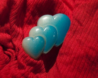 Heart Brooch Valentines Day Blue