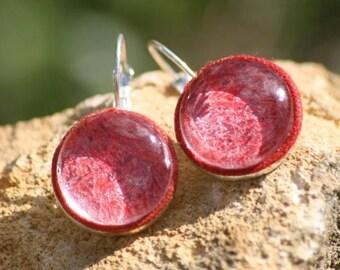 These fiber earrings