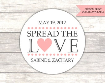 Spread the love jam labels - Spread the love stickers - Jam labels - Jam wedding favors - Spread the love labels - Wedding stickers (RW003)