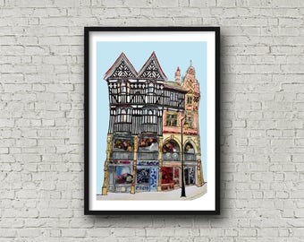 The Rows, Chester - Daytime Print