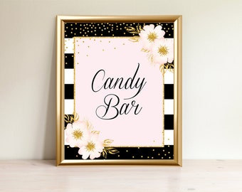 Candy Bar Sign, Dessert sign, Candy buffet,Baby Shower Sign, Baby shower decorations, Printable sign, Table sign,Candy bar, BP-01