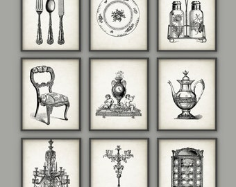 Dining Room Art Prints Set Of 9