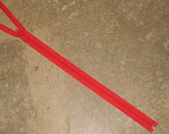 YKK zipper closure detachable red 60 cm