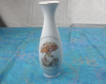 "Porcelain Holly hobbie flower vase. ""Friends are like flowers, you can't have too many."""