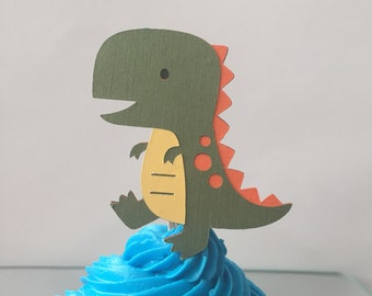 T-Rex Cupcake Topper