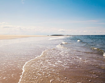 Beach Landscape Photography, Beach Photograph, Ocean Photography, Coastal Decor, Crane Beach Ipswich, Seashore, Seaside, Ocean Waves, Water
