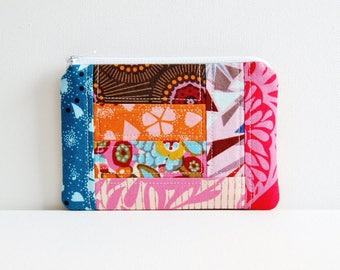 Zipper Pouch, Coin Purse, Change Pouch, Accessory Pouch, Women's Zip Wallet, Anna Maria Horner Innocent Crush