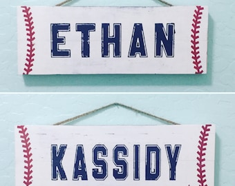 Personalized Baseball Sign