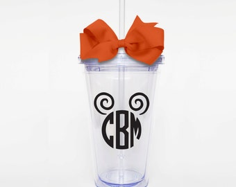Mickey Mouse Monogram- Acrylic Tumbler Personalized Cup
