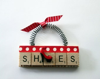 Love Shoes Scrabble Tile Ornaments