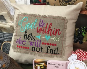 Custom pick your verse throw pillow