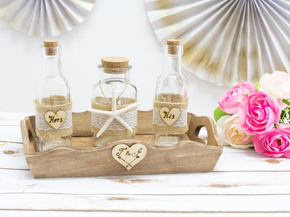Beach Wedding Sand Unity Jars Ceremony Set Nautical Wedding