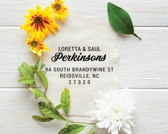 Custom Return Address Stamp | Family Address Stamp for New House, New Couple, Wedding, Save The Date, Housewarming Gift, Envelopes [ADD119]