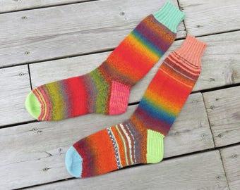 Hand Knit Socks Reds