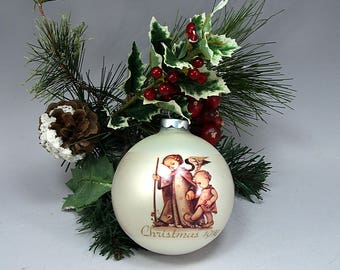 Guardian Angel Hummel 1974 Vintage Schmid Christmas Ornament First Edition Cottage Chic Birthday Gift Home Decor Holiday