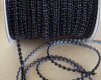 1 meter of trim beads 4 mm flat black