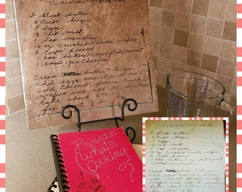 Handwritten Recipe Laser Etched Ceramic Tile