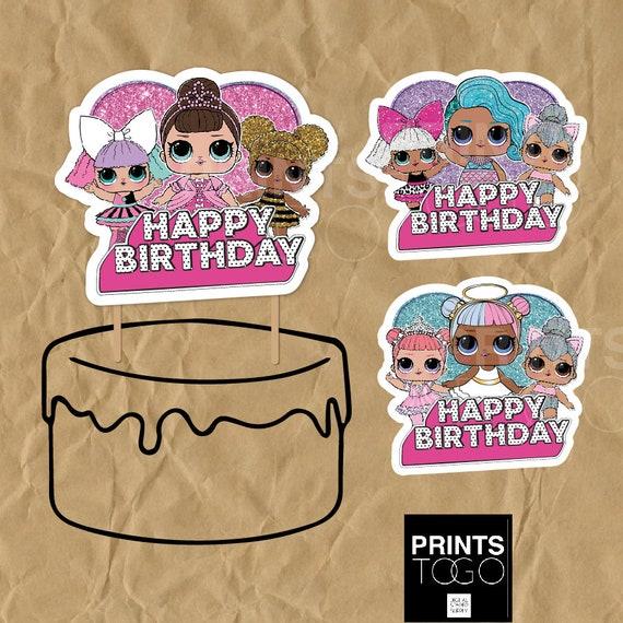 Lol surprise cake topper Lol surprise party Lol surprise