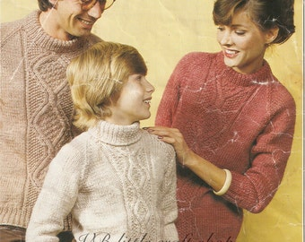 All family sweater knitting pattern. Instant PDF download!