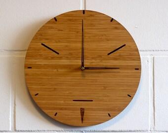 modern wall clock | clock made of bamboo | wooden wall clock | contemporary clock