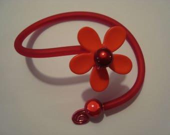 Bracelet flower Orange and Red